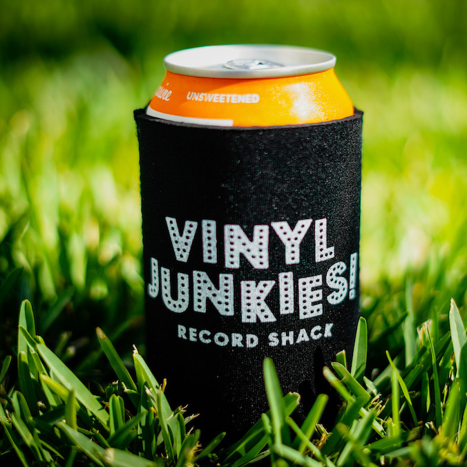 - Koozie with Vinyl Junkies Logo