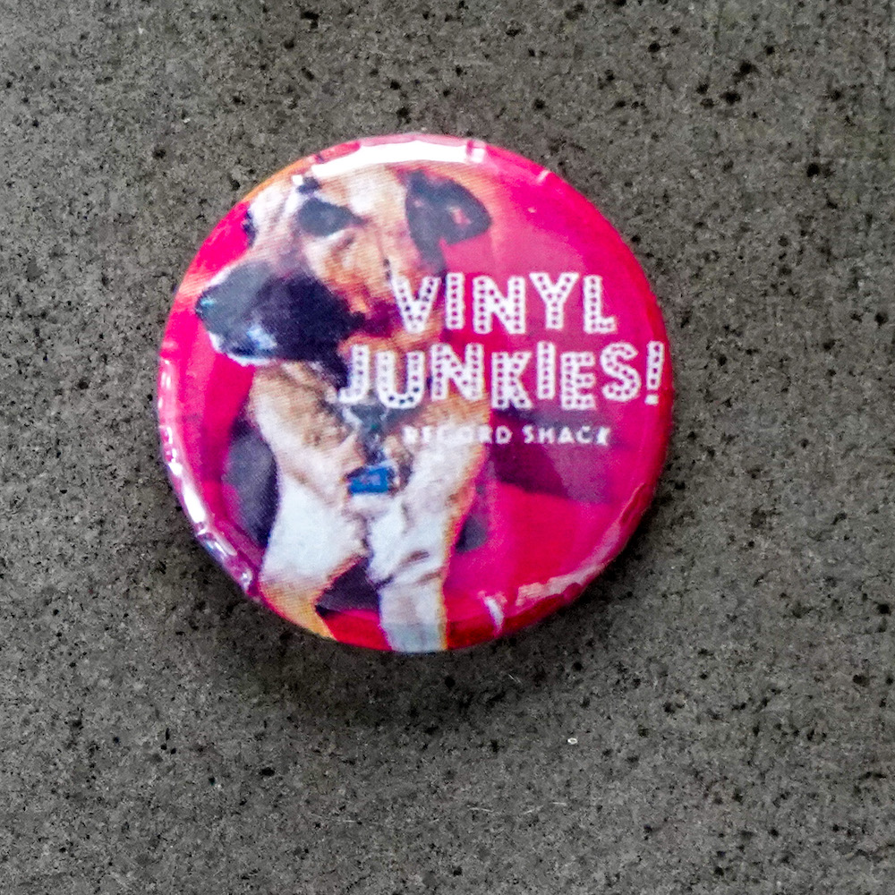 Vinyl Junkies - Red pin with Buddy
