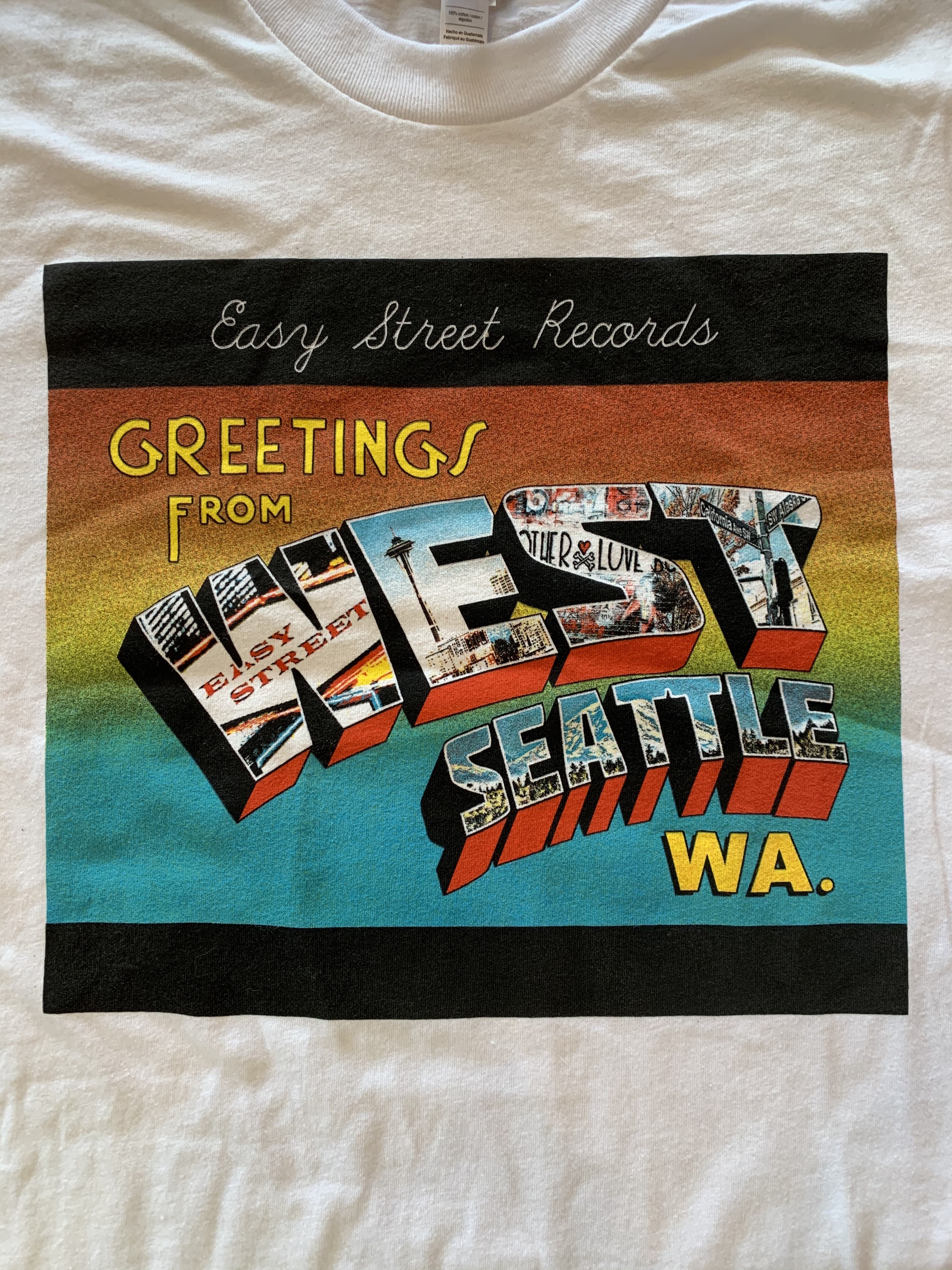 Easy Street Records - Greetings From West Seattle T-Shirt 2XL