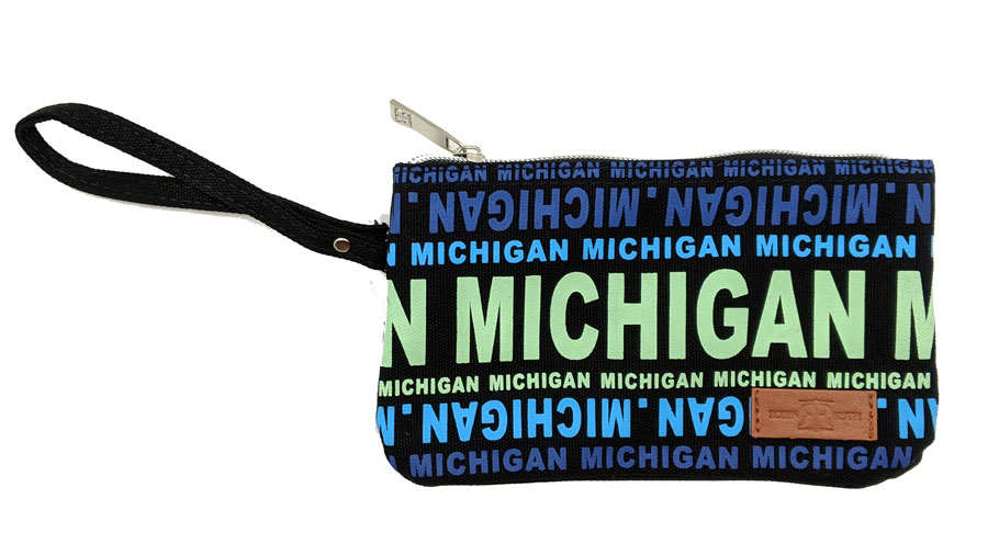 MICHIGAN TEXT - SMALL WALLET CLUTCH