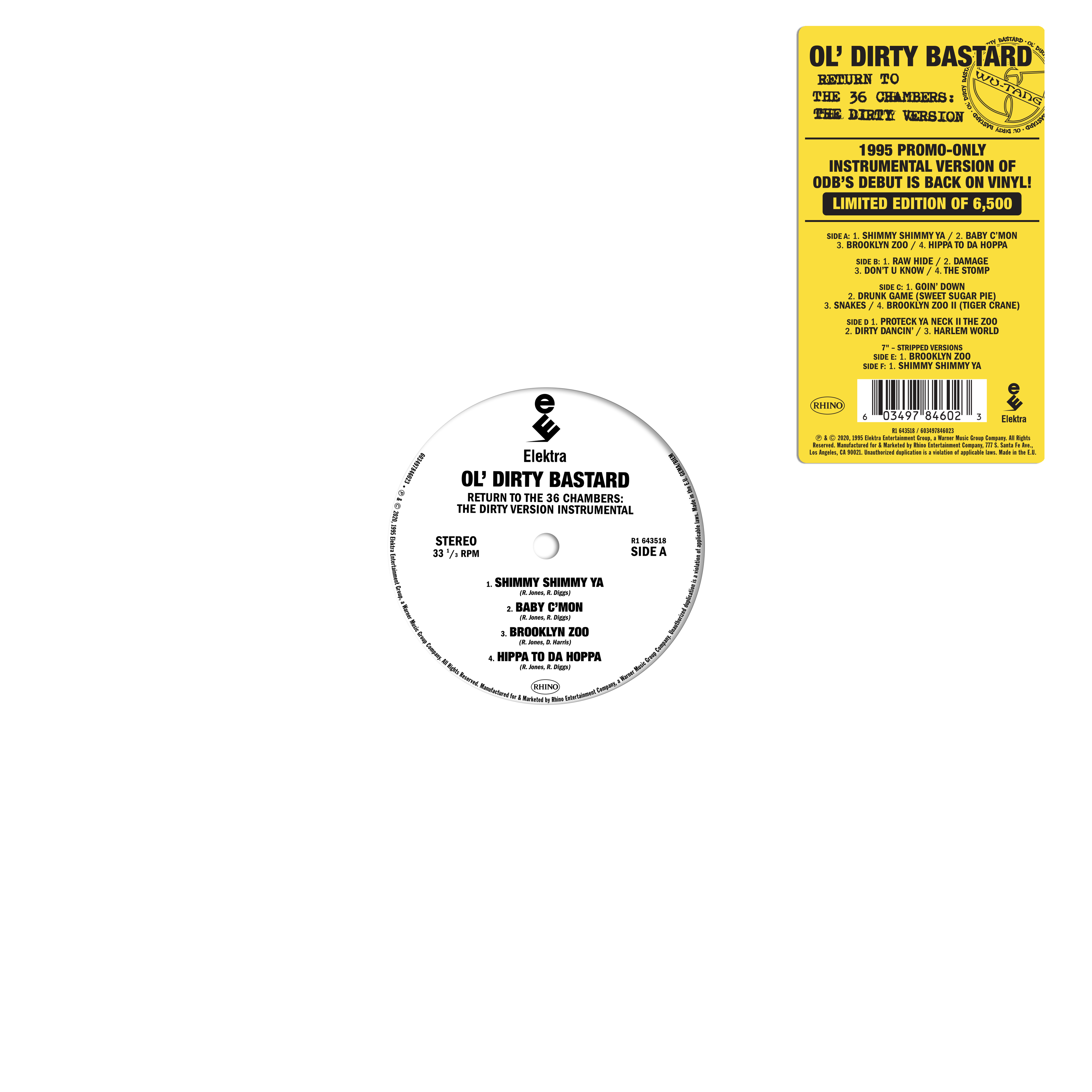 Ol' Dirty Bastard - Return to the 36 Chambers: The Dirty Version (The Instrumentals) [RSD BF 2020]