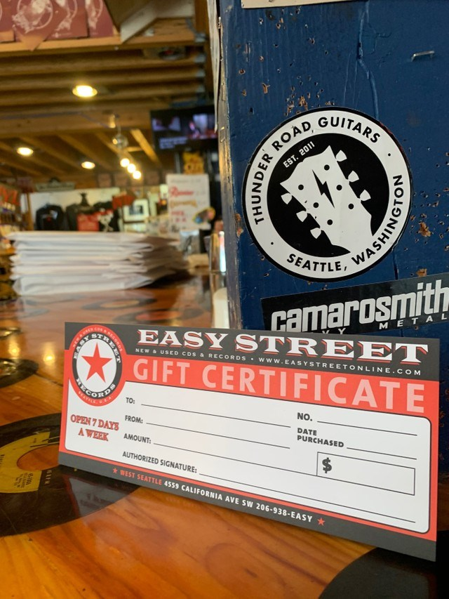 Easy Street Records - Gift Certificate [$10]