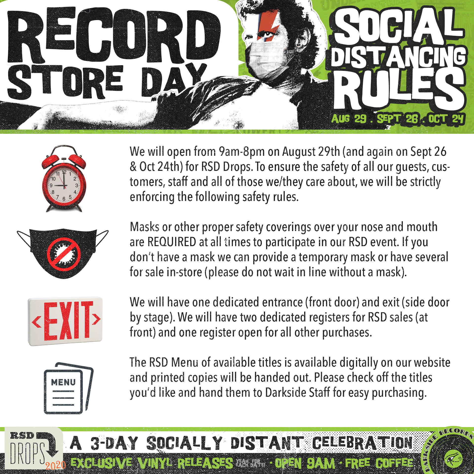 social distancing rules for record store day and black friday 2020