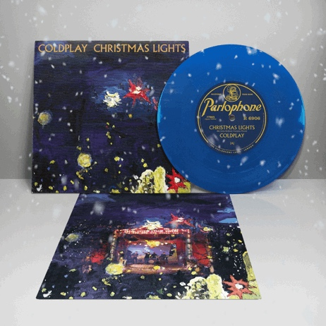 Coldplay Christmas Lights Limited Edition Blue 7in Vinyl Findersrecords