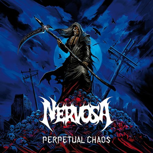 Nervosa - Perpetual Chaos (Blue) [Colored Vinyl]