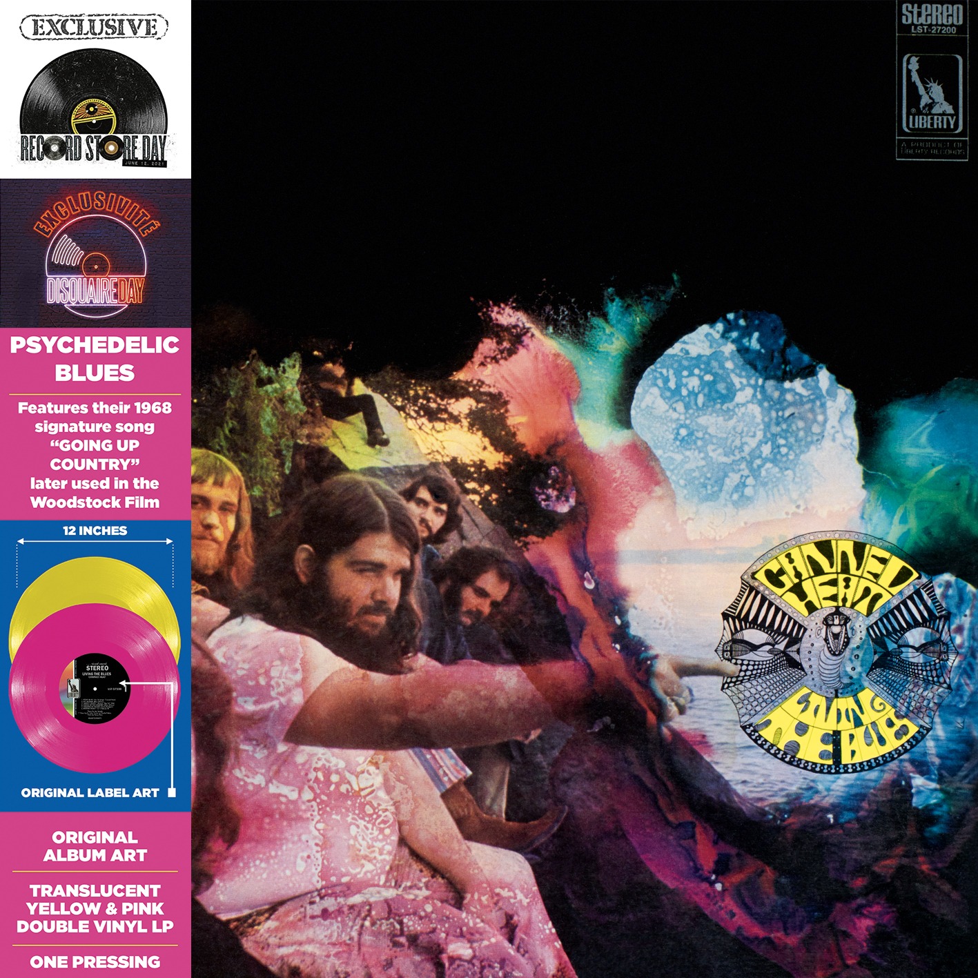 Canned Heat - Living The Blues (Rsd) (Pnk) [Record Store Day] (Ylw) [RSD Drops 2021]