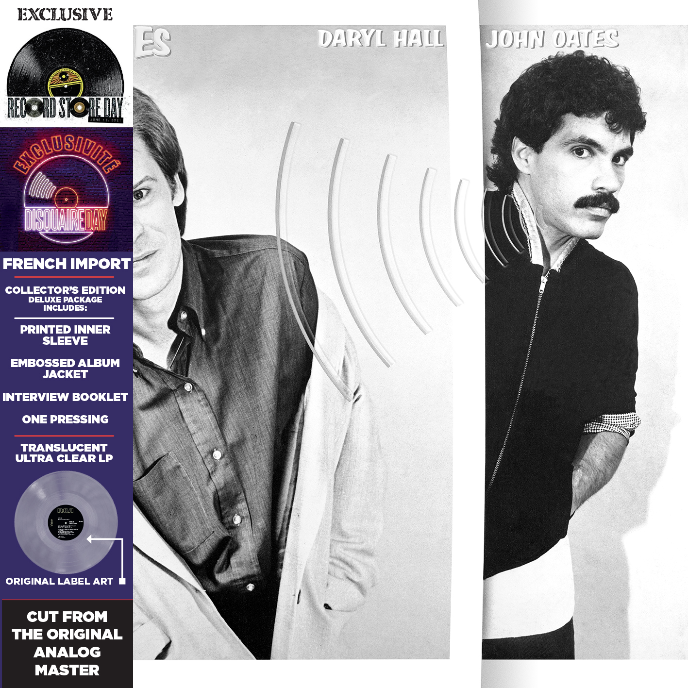 Hall & Oates - Voices (Rsd) [Clear Vinyl] [Record Store Day] [RSD Drops 2021]