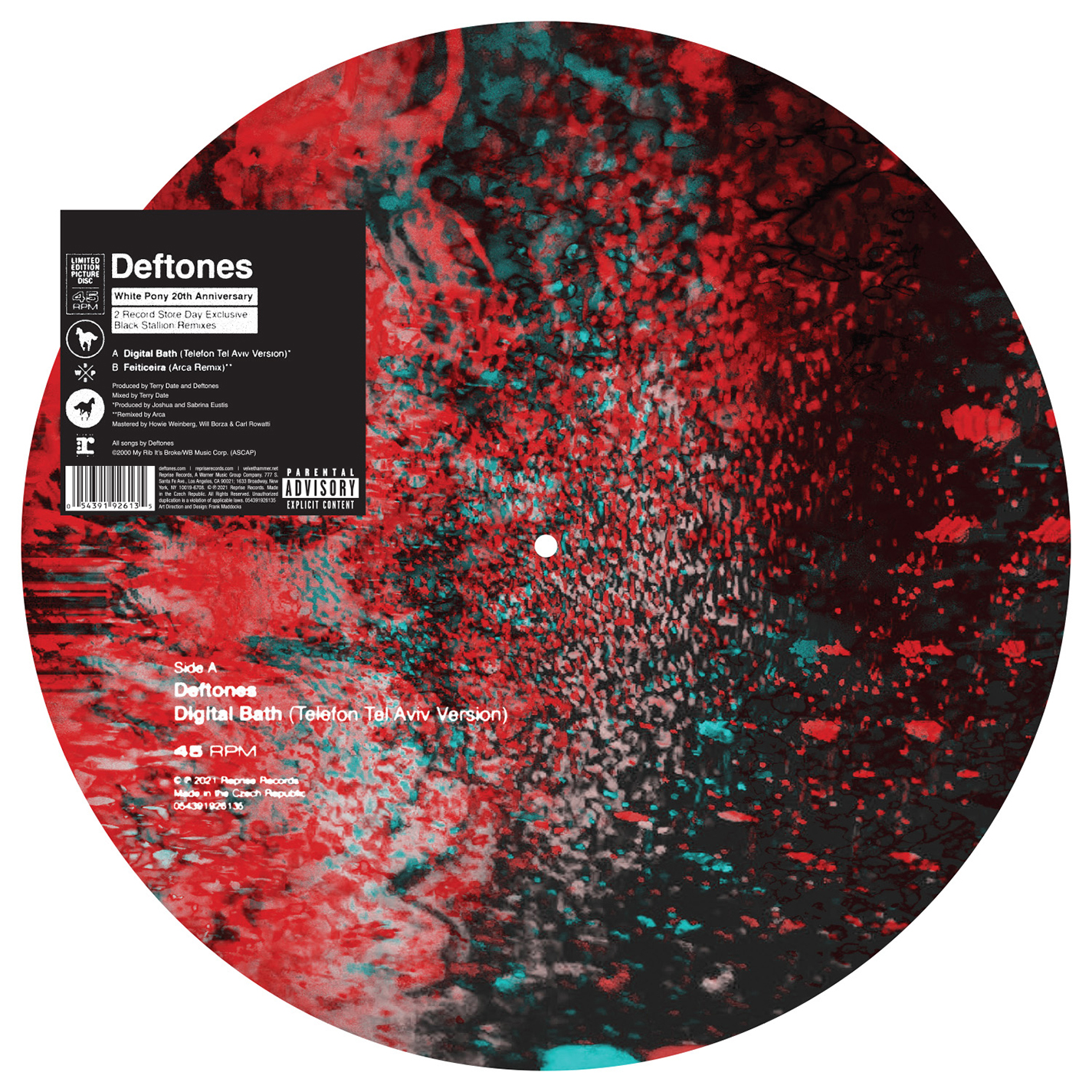 "Deftones - ""Digital Bath (Telefon Tel Aviv Version)"" / ""Feiticeira (Arca Remix)"" [RSD Drops 2021]"