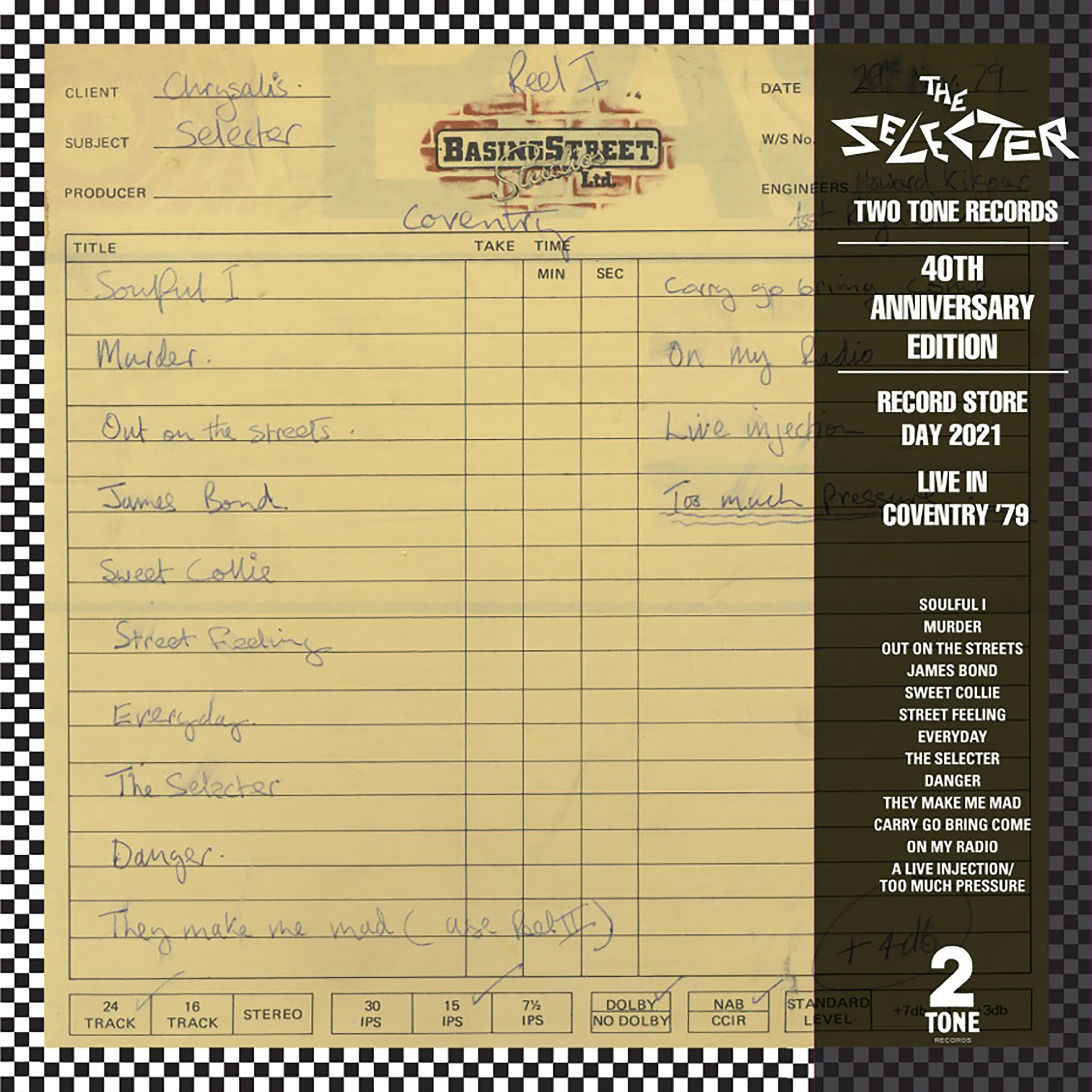 Selecter - Live In Coventry 1979 (Rsd) [Clear Vinyl] [Limited Edition] [Record Store Day] [RSD Drops 2021]
