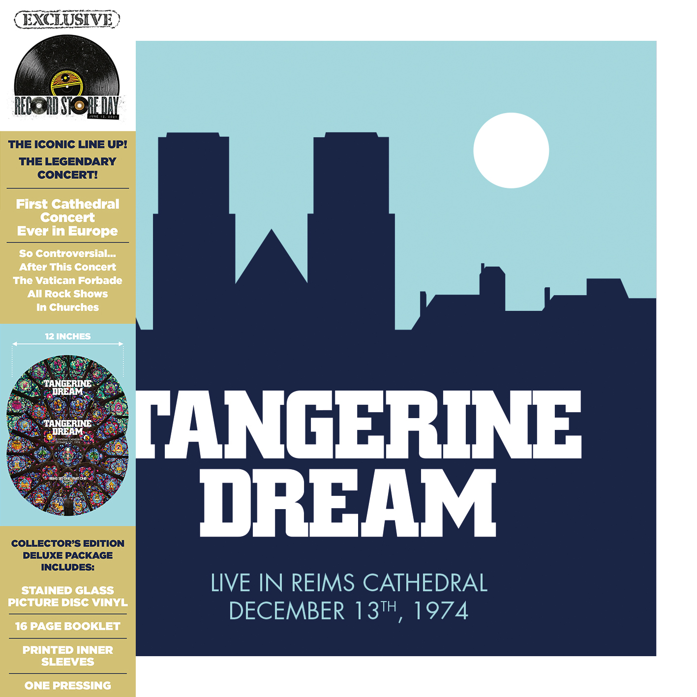 Tangerine Dream - Live At The Reims Cathedral (Rsd) (Pict) [Record Store Day] [RSD Drops 2021]