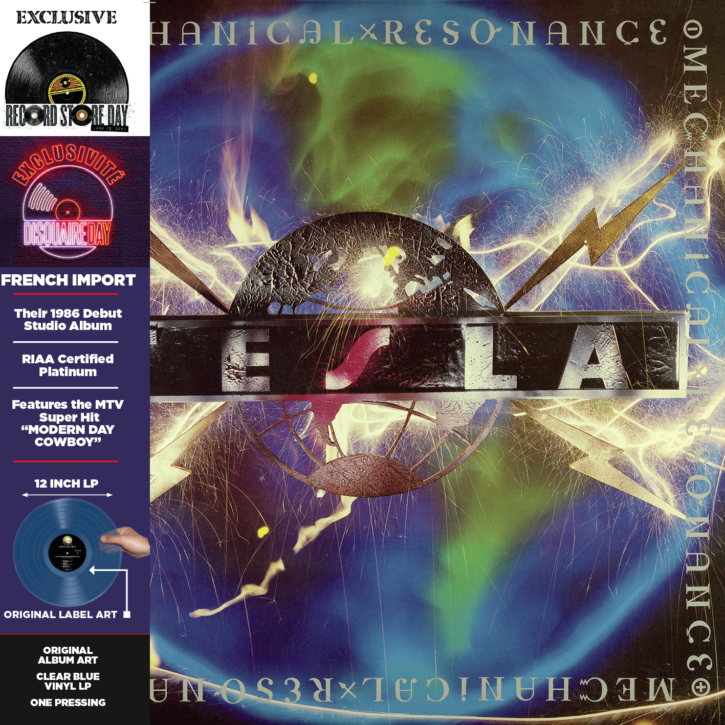 Tesla - Mechanical Resonance (Rsd) (Blue) [Record Store Day] [RSD Drops 2021]