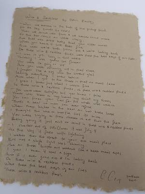 Enter to win a rare Blitzen Trapper lyric sheet!