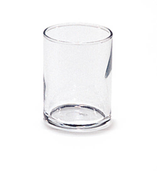 Crystal Straight Side Glass Candle Holder