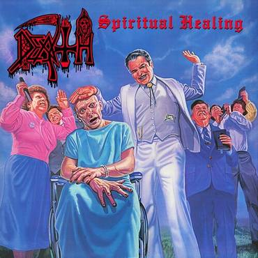 Spiritual Healing [Clear with Cyan Blue Pinwheels with Heavy Blood Red, Black & White Splatter LP]