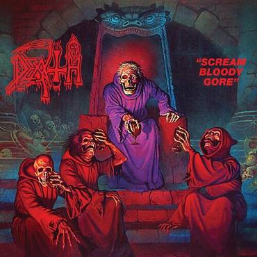 Scream Bloody Gore [Clear with Blood Red Pinwheels with Heavy Aqua Blue, Neon Violet & Bone White Splatter LP]