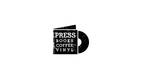 PRESS books coffee vinyl