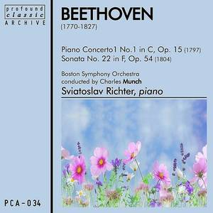 Piano Concerto No. 1 In C, Op. 15 And Sonata No. 22 In F, Op. 54
