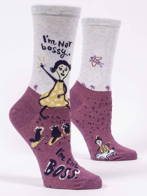 Socks - I'm Not Bossy Women's Crew