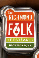 Richmond Folk Festival Sticker
