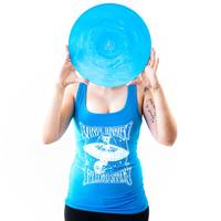 Vinyl Junkies - Buddy In Space - Women's Blue Tank Top [a. Small]