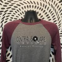 Central Square Records - CSR 3/4 SLEEVE BASEBALL TEE RED/GREY