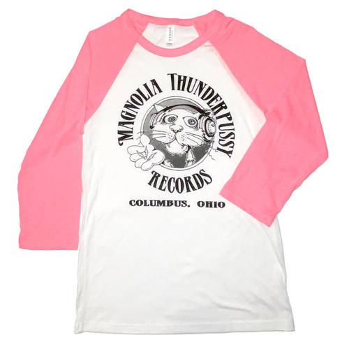 Magnolia Thunderpussy - White/Pink Raglan (XS)