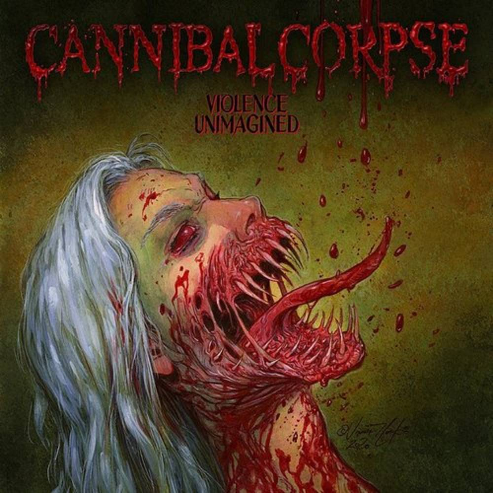 Cannibal Corpse - Violence Unimagined [Indie Exclusive Limited Edition White w/ Olive Green Melt LP]