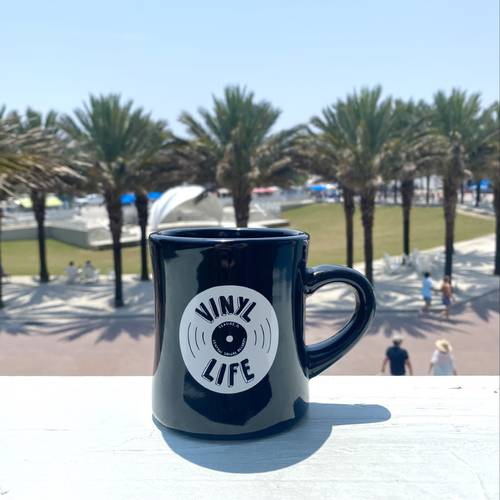 CSR Merch - BLACK VINYL LIFE COFFEE MUG