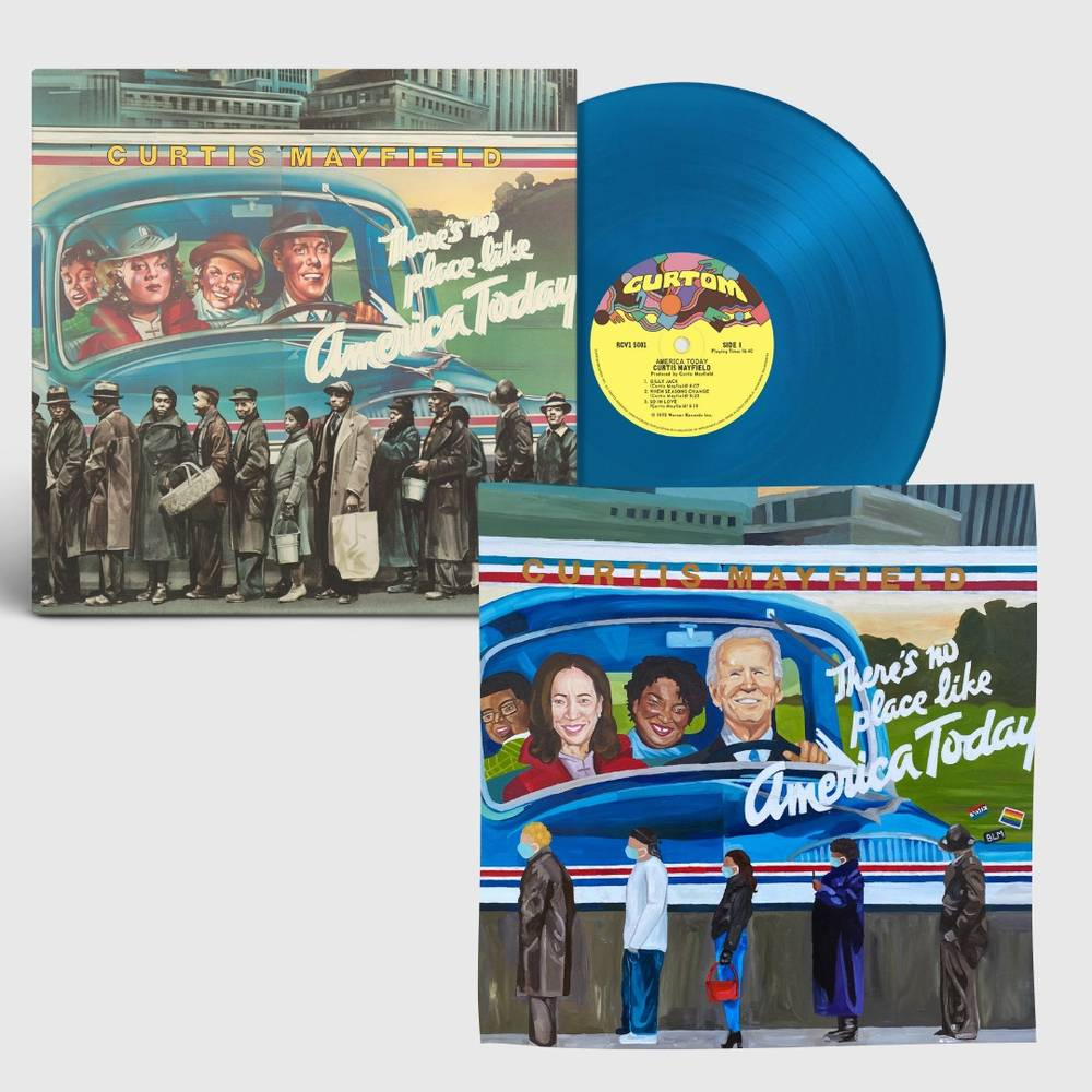 Curtis Mayfield - There's No Place Like America [Limited Edition Print] [Blue LP]