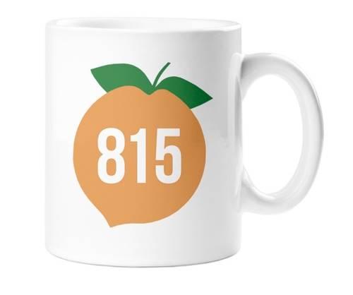 - Rockford 815 Ceramic Coffee Mug w/peach