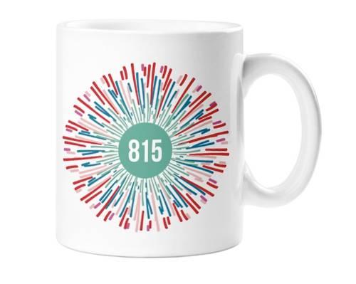 - Rockford 815 Starburst Ceramic Coffee Mug