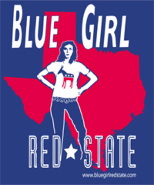 Blue Girl Red State - Texas Sticker