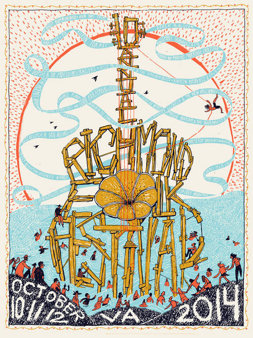 2014 Richmond Folk Festival Poster [Limited Edition]