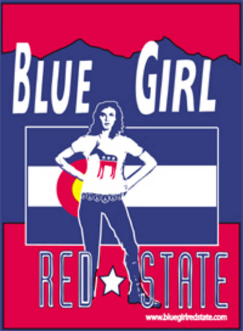 Blue Girl Red State - Colorado Sticker