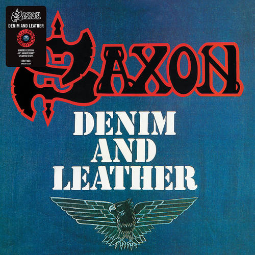 Saxon - Denim And Leather [Indie Exclusive Limited Edition Red & Black Splatter LP]