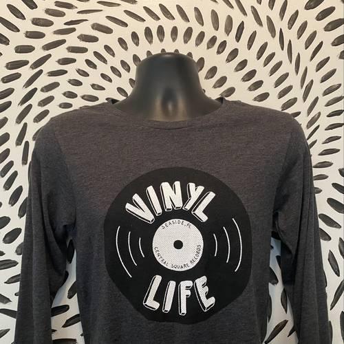 CSR Merch - Vinyl Life Long Sleeve Grey