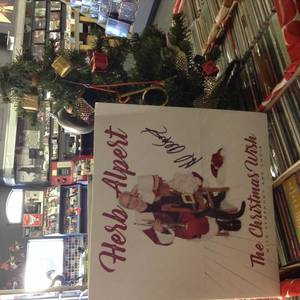 "Signed Herb Alpert ""Christmas Wish"" 2 Piece Vinyl"