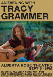 Tracy Grammer at the Alberta Rose Theater, 9/5