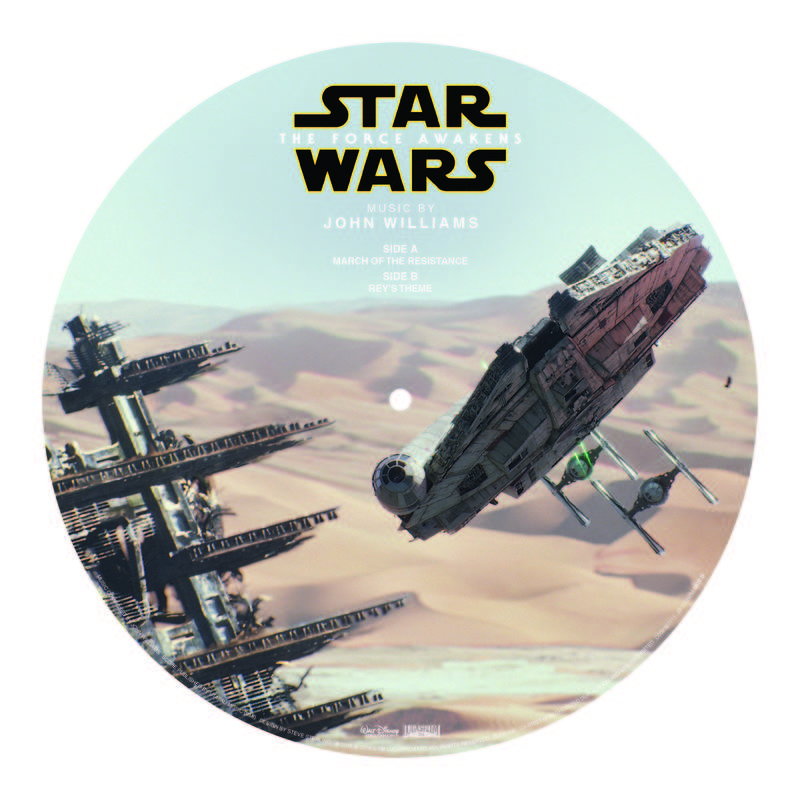 "SOUNDTRACK STAR WARS: THE FORCE AWAKENS ""MARCH OF THE RESISTANCE B W REY'S THEME"" (MILLENNIUM FALCON)"
