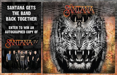 ENTER TO WIN AN AUTOGRAPHED COPY OF SANTANA IV