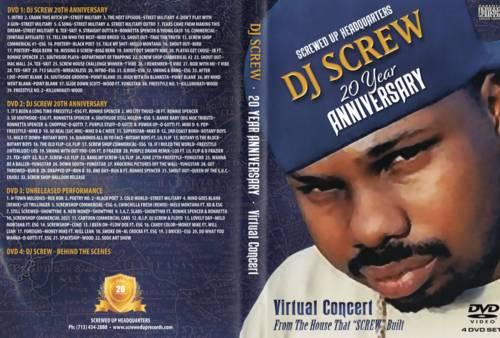 Various Artists - DJ Screw 20th Anniversary (Virtual Concert 4 DVD Disc Set)