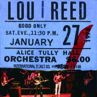 Lou Reed - Live At Alice Tully Hall - January 27, 1973 - 2nd Show [RSD BF 2020]