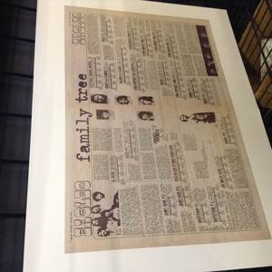 "The Eagles ""Family Tree"" Litho"