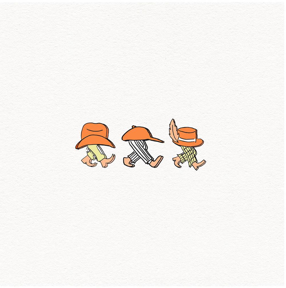 Bad Bad Hats - Walkman [EF Exclusive Translucent Campfire Orange and Black LP]