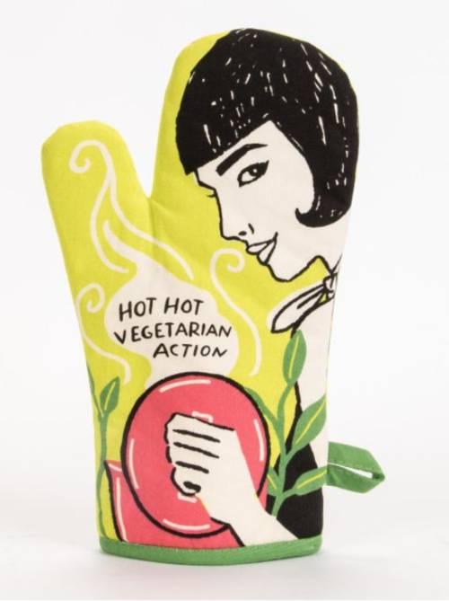 Oven Mitt - Hot, Hot Vegetarian Action