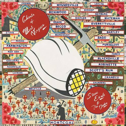 Steve Earle & The Dukes - Ghosts Of West Virginia [Limited Edition Black & Blue Swirl LP]