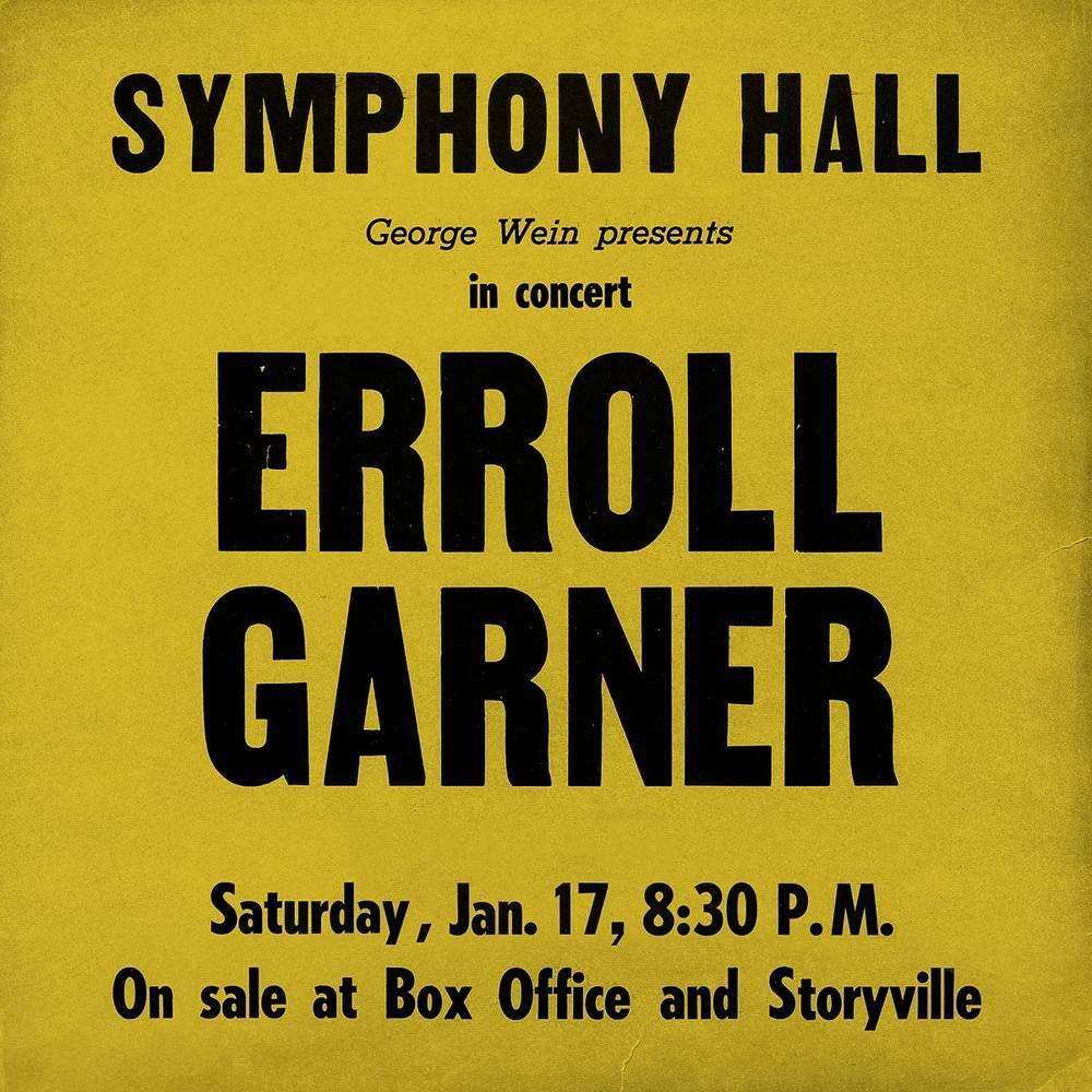 Erroll Garner - Symphony Hall Concert [LP]