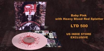 Death - Individual Thought Patterns [Indie Exclusive Limited Edition Baby Pink With Blood Splatter LP]