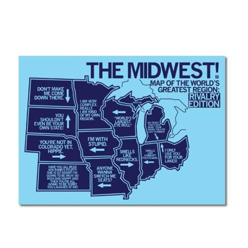 Midwest Rivalry Postcard