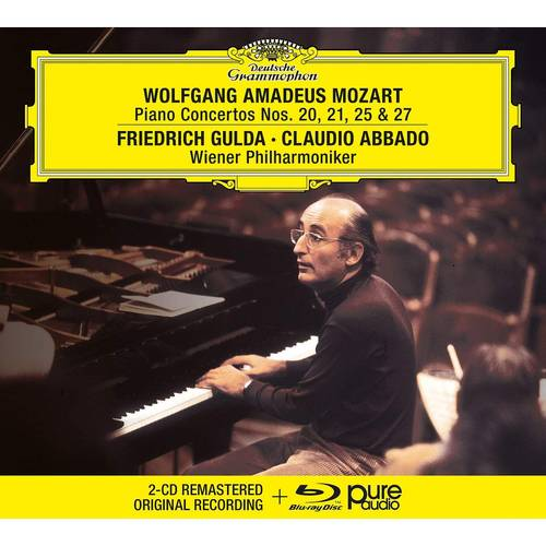 Mozart: Piano Concertos Nos. 20, 21, 25 & 27 [2 CD/Blu-ray]